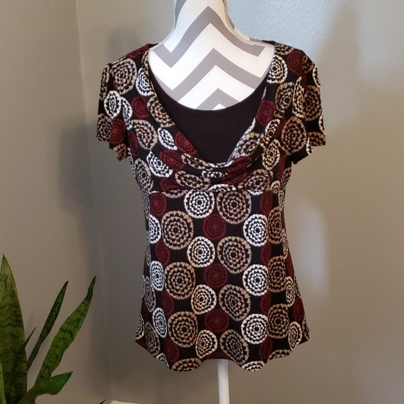 Perseption Concept Tops - Short Sleeve Blouse